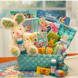 Little Cottontails Blue Easter Activities Basket