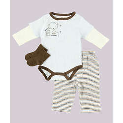 Beary Good Friends 3 Piece Baby Outfit