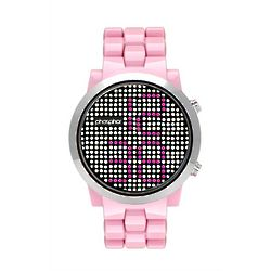 Swarovski Crystal Watch with Pink Nylon Chain Band