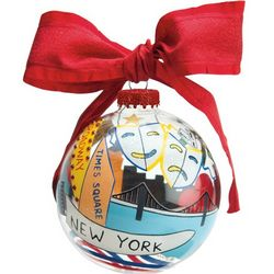 New York Glass Ornament Ball