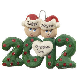 Personalized 2012 Couple Christmas Ornament