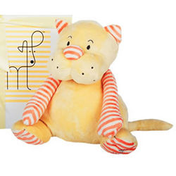 Melon Striped Yellow Cat Plush