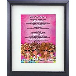 Personalized Sisters Framed Print