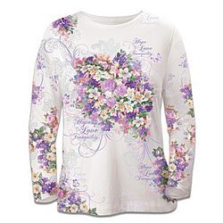 Alzheimer's Disease Support Artistic Long-Sleeved Shirt