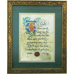 Illuminated Priestly Blessing Framed Print