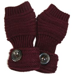 Fingerless Fashion Gloves with Button Accent