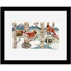 Hand-Cut Vintage Cardinals Print