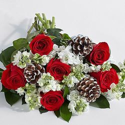 Deluxe Let It Snow Floral Bouquet