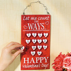Valentine Countdown Sign
