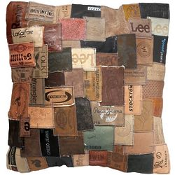 Recycled Jean Tag Pillow