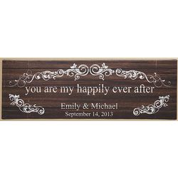 Personalized You Are My Happily Ever After Canvas Wall Art