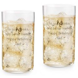 Classic Crystal Long Drinking Glasses