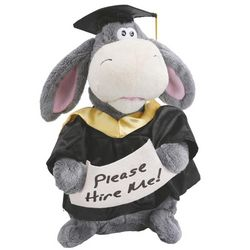 Animated Graduation Plush Donkey