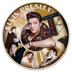 Elvis Presley 60th 1st Number 1 Record Porcelain Collector Plate