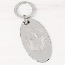 Miraculous Medal Engraved Keychain