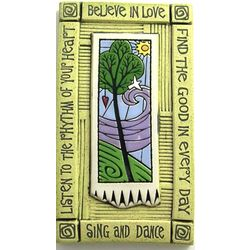 Believe in Love Ceramic Wall Plaque