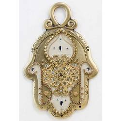 Gold Hamsa Amulet