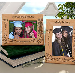 Personalized Friendship Graduation Wooden Picture Frame