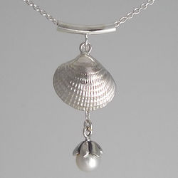 Mother + Child Pearl and Shell Necklace
