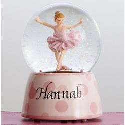 Personalized Ballerina Musical Globe