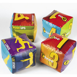 Inflatable Fitness Dice Set