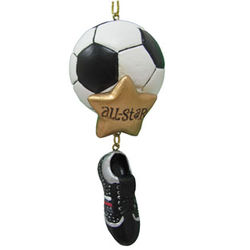 Personalized All Star Soccer Christmas Ornament