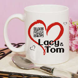 Personalized Romantic Message Barcode Coffee Mug