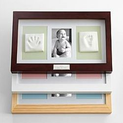 Deluxe Baby Keepsake Kit with Espresso Frame