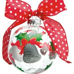 Silver Bells Glass Ornament Ball