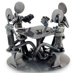 Rustic Poker Game Auto Part Sculpture