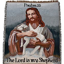 The Lord Is My Shepherd Throw Blanket