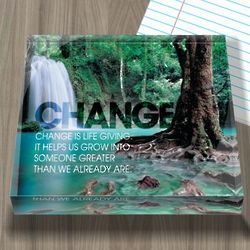Change Forest Infinity Edge Paperweight