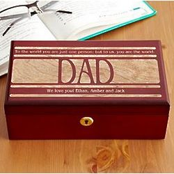 Personalized to the World Keepsake Box