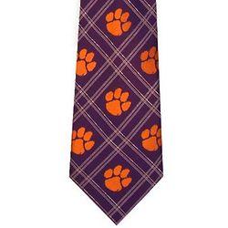 Clemson Tigers Plaid Tie