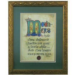 Irish Monastic Mothers Hold Their Childrens' Hands Framed Print