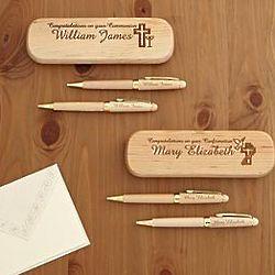 Personalized Communion & Confirmation Pen, Pencil & Box Set
