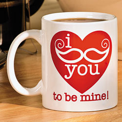 Valentine Mustache Mug