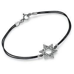 Cubic Zirconia Star of David Bracelet