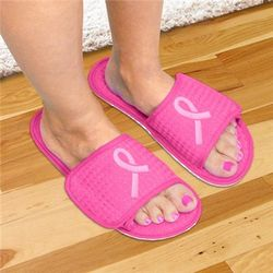 Pink Ribbon Slippers