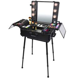 Studio To Go Wheeled Trolley Makeup Case & Organizer with Light