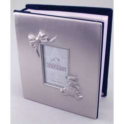 Personalized Pewter Finish Teddy Bear & Bow Album