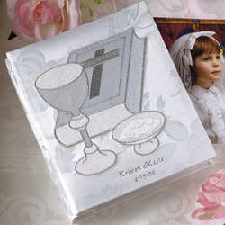 Personalized Chalice and Bible Photo Album