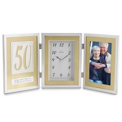 50th Anniversary Book Clock