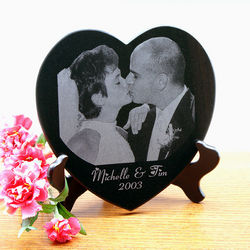 5 Inch Marble Heart Shaped Portrait