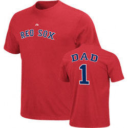 Boston Red Sox #1 Dad Name and Number T-Shirt