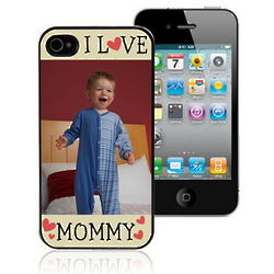 Personalized I Love Mommy Photo iPhone 4 Case
