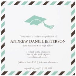 Striped Graduation Announcement