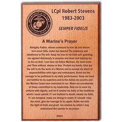 Marine Prayer Plaque