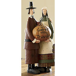 Simply Grateful Thanksgiving Pilgrim Figurines