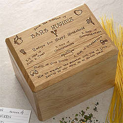 Personalized Recipe for a Happy Household Recipe Box